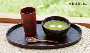 選べる川床セット・冷製抹茶しること加賀棒茶