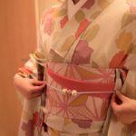 はれまロマン 単衣の着物と玉の帯留