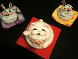 九谷茶碗祭りで見つけた招き猫