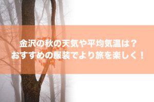 金沢の秋の天気や平均気温は?おすすめの服装でより旅を楽しく!