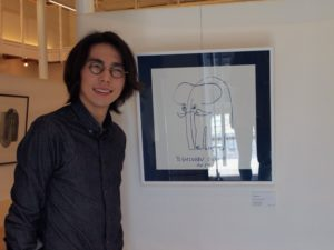 Yoshinobu Omori [One Stroke Art Exhibition pop up Gallery in Prego 金沢]