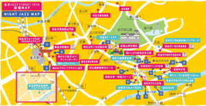 Kanazawa Jazz Street 2018 MAP