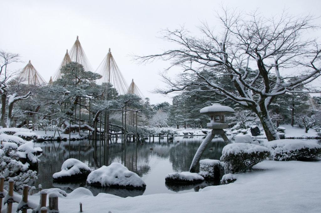Kenrokuen in winter