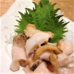 a sashimi of shellfish